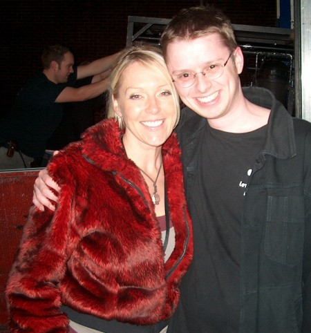 Helen Chamberlain after the Level 42 Basingstoke gig