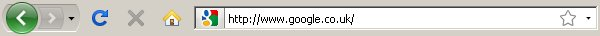 Google Favicon in the address bar